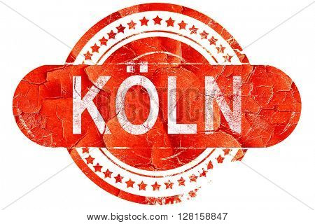 Koln, vintage old stamp with rough lines and edges