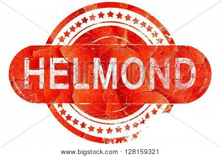 Helmond, vintage old stamp with rough lines and edges