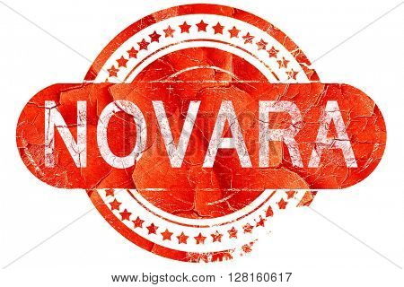 Novara, vintage old stamp with rough lines and edges
