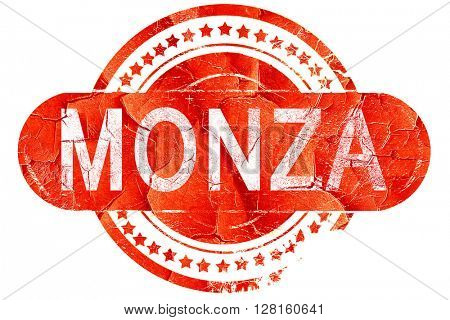 Monza, vintage old stamp with rough lines and edges