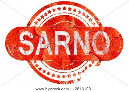 Sarno, vintage old stamp with rough lines and edges