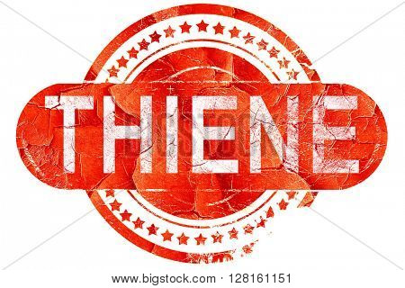 Thiene, vintage old stamp with rough lines and edges