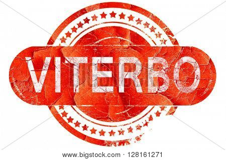 Viterbo, vintage old stamp with rough lines and edges