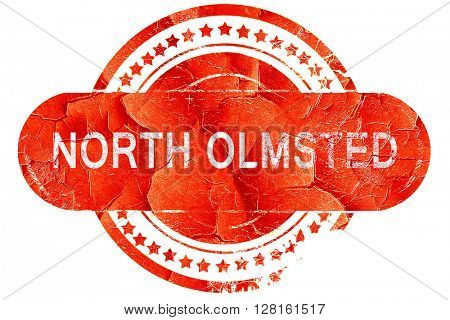 north olmsted, vintage old stamp with rough lines and edges