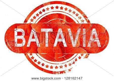 batavia, vintage old stamp with rough lines and edges