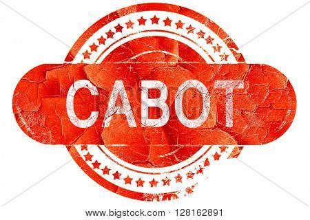 cabot, vintage old stamp with rough lines and edges