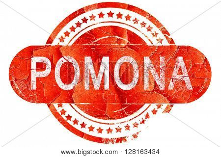 pomona, vintage old stamp with rough lines and edges
