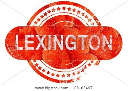 lexington, vintage old stamp with rough lines and edges