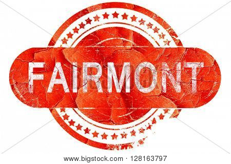 fairmont, vintage old stamp with rough lines and edges
