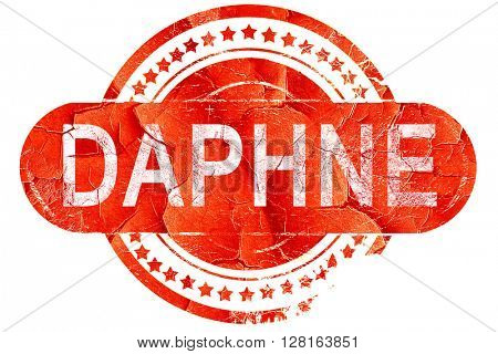 daphne, vintage old stamp with rough lines and edges