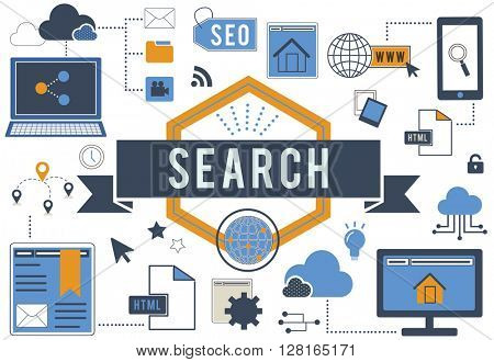Search SEO Media Internet Connection Concept