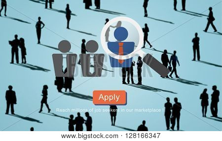 Recruitment Hiring Employment Job Seekers Concept