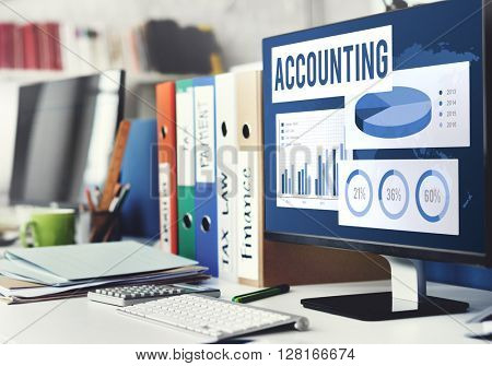 Accounting Auditing Balance Bookkeeping Capital Concept poster