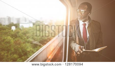 Businessman Travel Passenger African Descent Concept