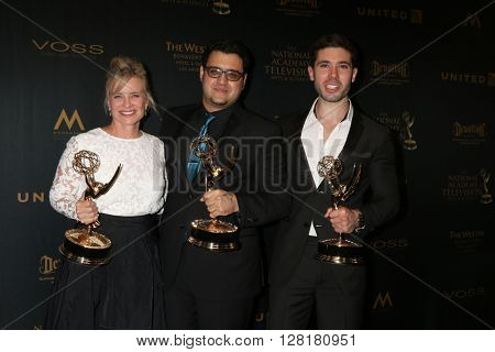 LOS ANGELES - APR 29:  Mary Beth Evans, Gregori J. Martin, Kristos Andrews at the 43rd Daytime Emmy Creative Awards at the Westin Bonaventure Hotel  on April 29, 2016 in Los Angeles, CA