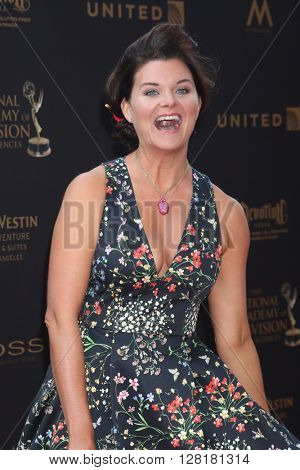 LOS ANGELES - APR 29:  Heather Tom at the 43rd Daytime Emmy Creative Awards at the Westin Bonaventure Hotel  on April 29, 2016 in Los Angeles, CA