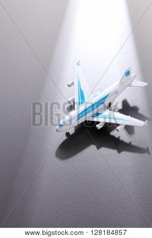 Toy Plane on White Background
