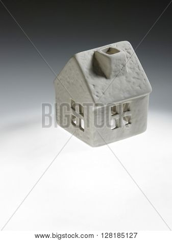 model house  on the white background