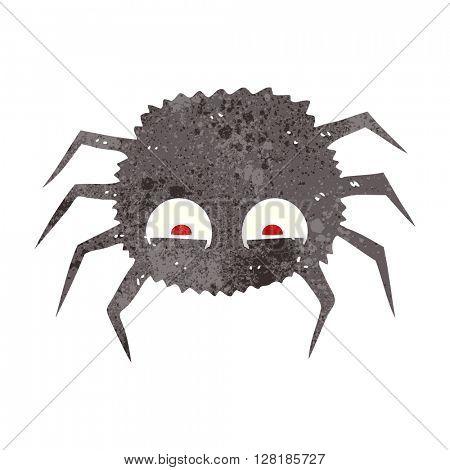 freehand retro cartoon spider
