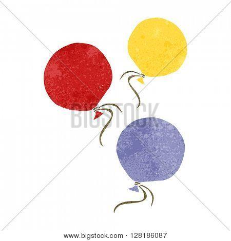 freehand retro cartoon balloons