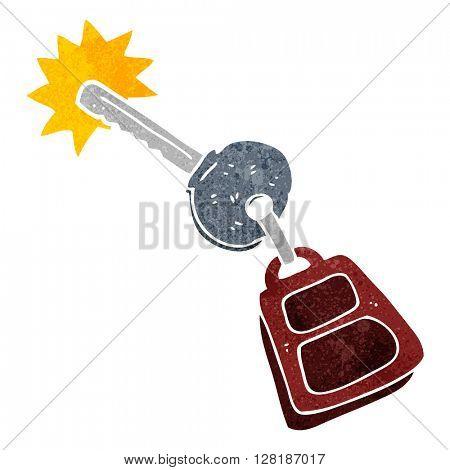 freehand retro cartoon key