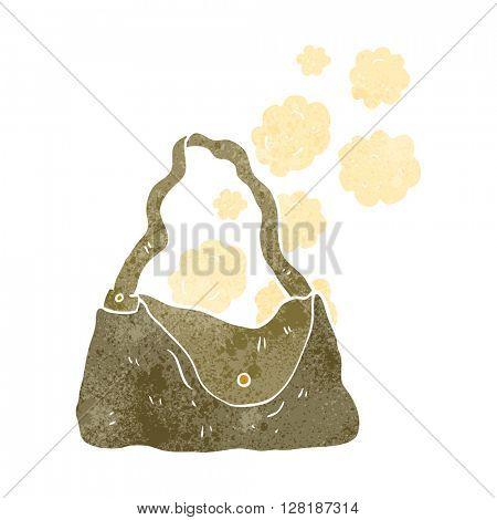 freehand retro cartoon handbag
