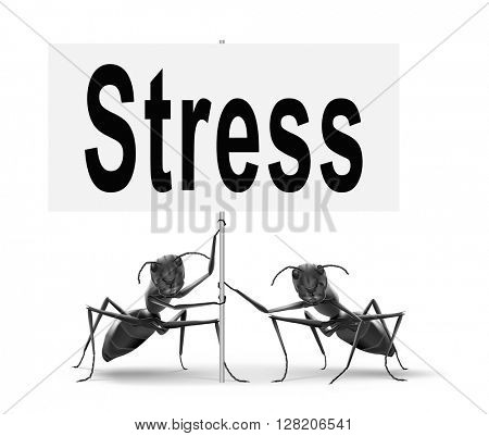 Stress disorder from acute work pressure is a factor triggering a panic attack bad mental health.