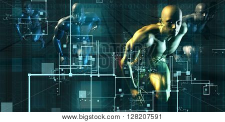 Digital Revolution and the Race for New Consumer Technology 3D Illustration Render