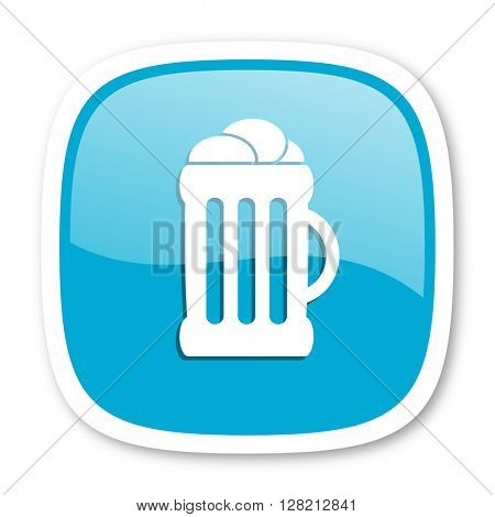 beer blue glossy icon