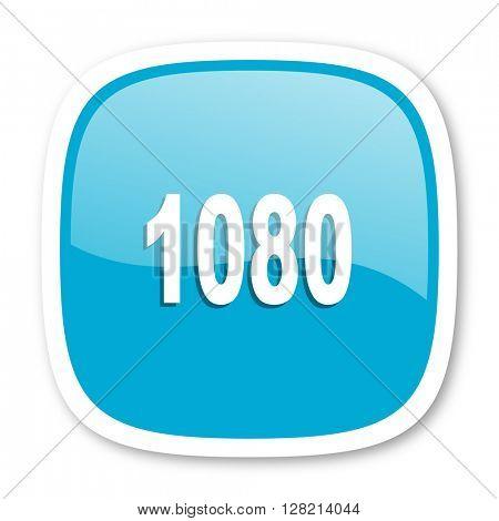 1080 blue glossy icon