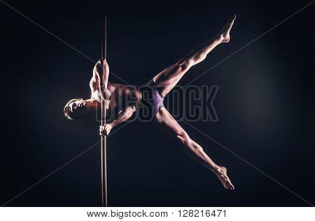 Pole Dance Male Athlete