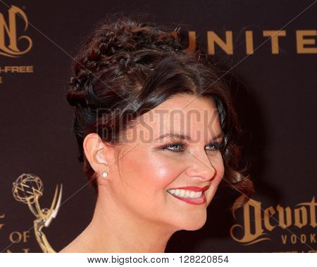 LOS ANGELES - MAY 1:  Heather Tom at the 43rd Daytime Emmy Awards at the Westin Bonaventure Hotel  on May 1, 2016 in Los Angeles, CA