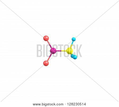 Nitromethane is an organic compound with the chemical formula CH3NO2. It is the simplest organic nitro compound. It is a slightly viscous highly polar liquid. 3d illustration