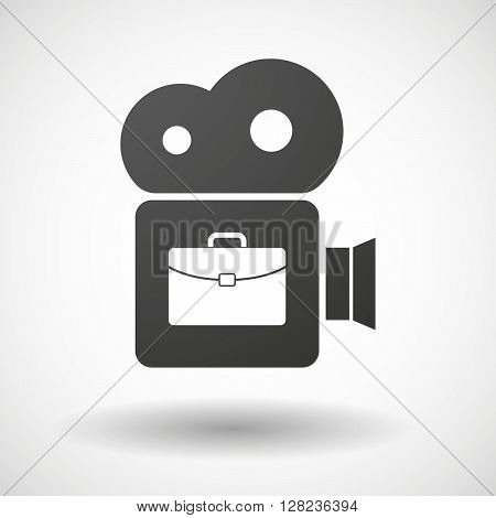 Isolated Cinema Camera Icon With  A Briefcase