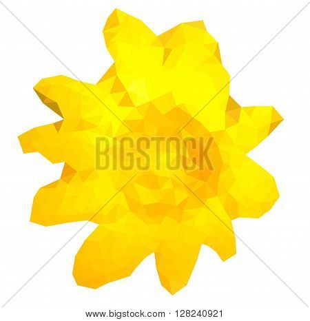Triangulated yellow flower in EPS 8 format