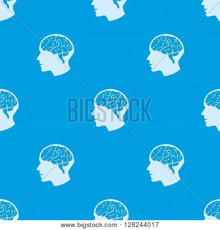 Pattern for seamless background the human brain.