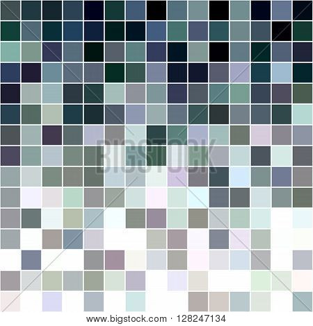 Grey and colorful square mosaic vector background design