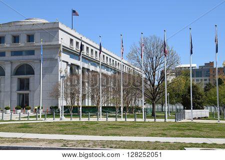 The Thurgood Marshall Federal Judiciary Building in Washington, DC