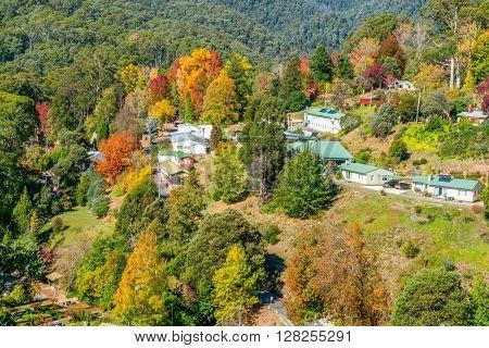 Bogong Village Autumn view, Alpine National Park Victoria