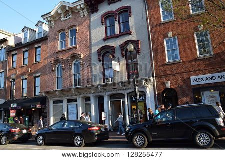 WASHINGTON, DC - APR 16: Georgetown University in Washington, DC, as seen on Apr 16, 2016. Founded in 1789, it is the oldest Catholic and Jesuit institution of higher education in the United States.