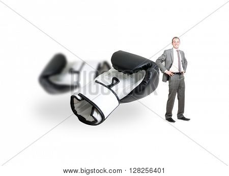 Boxing glove on white