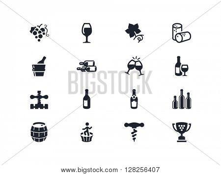 Wine industry icons. Lyra series