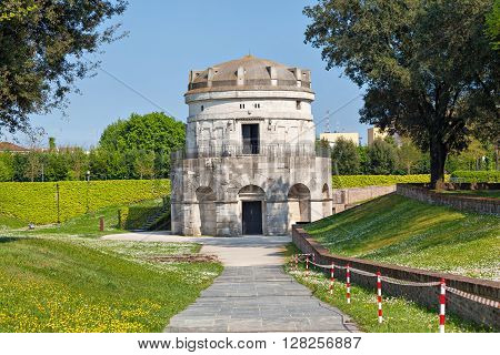 Mausoleum of Theoderic - an ancient monument built in 520 AD by Theoderic the Great as his future tomb. Ravenna Emilia-Romagna Italy