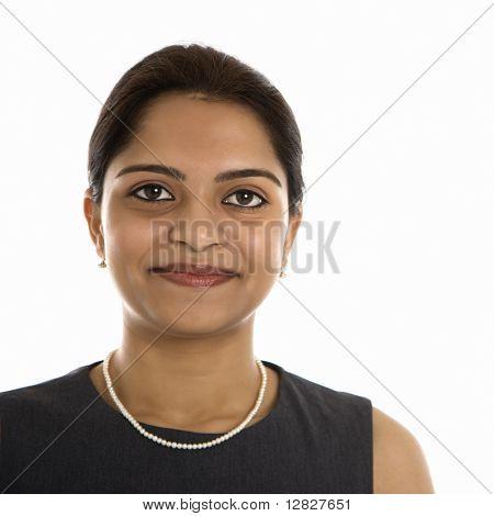 Kopf und Schulter Bildniss ziemlich Mitte Erwachsenen Inderin.