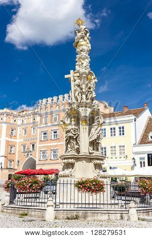 Column of Holy Trinity, Retz, Lower Austria, Austria