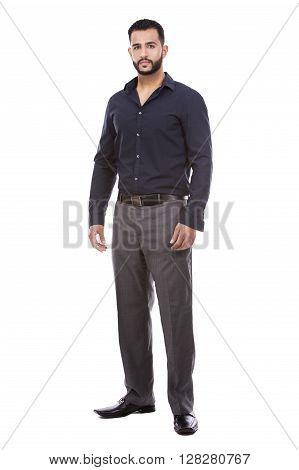 Successful Businessman On White