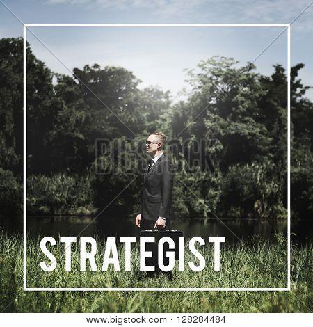 Strategist Planner Businessman Leader Investor Concept