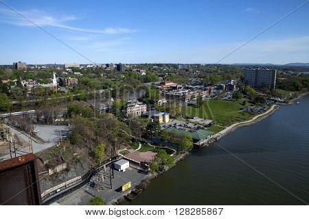 The Waryas Park Promenade in Poughkeepsie New York