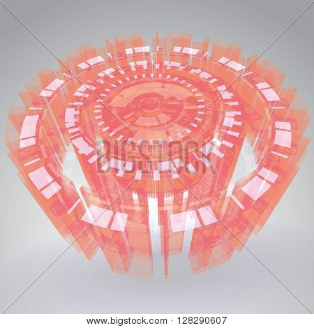 Futuristic Sci-Fi HUD Vector Element