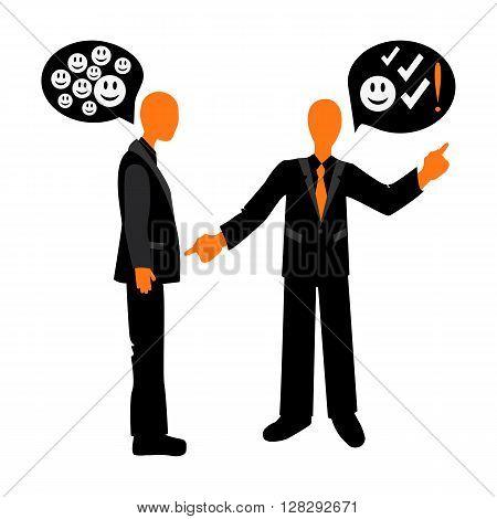 Speech etiquette in business. Appreciation conversation between colleagues. Business etiquette.